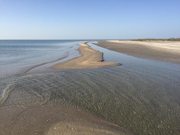 пляж оголовок косы