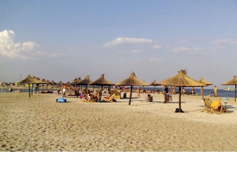 пляж солома